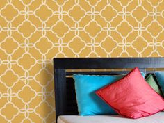 Possible DIY project - wall stencils. From: http://www.royaldesignstudio.com/shop_stencils_detail.php?id=1712