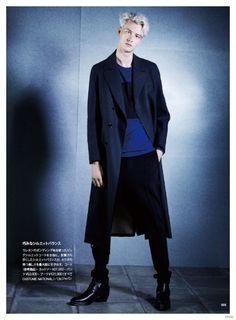 Benjamin Jarvis Rocks Costume National Fall 2014 Fashions for Huge Magazine | Photographed by Akihiro Ito | Stylist Takashi Tokunaga ❤️  Nov 4, 2014