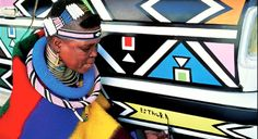 The Ndebele people, South Africa.  A Ndebele cultural village, made up of residential units, is quite often defined by its striking artwork, which is done by the women.