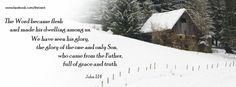 Lodge in the snow - Christmas Facebook cover photo