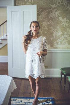 WEB EXCLUSIVE: Medallion Lace Dress in White | Entourage Clothing & Gifts #dress #women #covetme