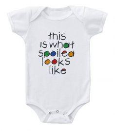Kiditude - Spoiled Baby Onesie $16.95