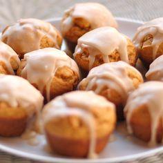 Maple glazed pumpkin muffins