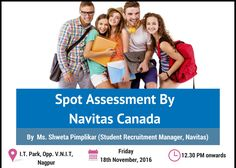 Spot Assessment by Navitas, Canada at Krishna Consultants #Nagpur. Date: Friday, 18 Nov, 2016. Time: 12 pm Onwards Call: 91-712-2222061/62