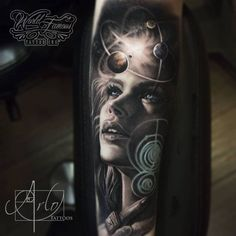 Jaw-Dropping Face Morph Tattoos By Arlo DiCristina - KickAss Things Great Tattoos, Unique Tattoos, Body Art Tattoos, Girl Tattoos, Tattoos For Guys, New Tattoos, Space Tattoos, Arlo Tattoo, Mic Tattoo