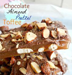 Chocolate Almond Pretzel Toffee