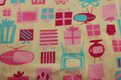 Retro T.V.'s & Presents David and Goliath Cotton Knit Fabric