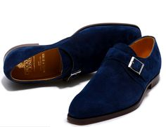 Blue Suede Monks from Crockett and Jones, Don't Step On my Blueaa Swayyde shurrzz