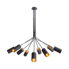 Be daring and decadent. The Center Stage Pendant Light exemplifies the bold, contemporary aesthetic with a series of cylindrical shades crafted from metal and finished in a matte black. This studio-sty... Find the Center Stage Pendant Light, as seen in the Mad for Mod Collection at http://dotandbo.com/collections/mad-for-mod?utm_source=pinterest&utm_medium=organic&db_sku=109036