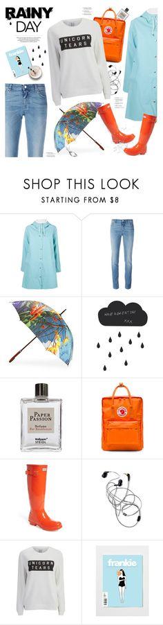 """splish splash: rainy day style"" by jesuisunlapin ❤ liked on Polyvore featuring Stutterheim, Givenchy, ADAM, ferm LIVING, Steidl, Fjällräven, Hunter, Zoe Karssen, rainyday and Wellies"
