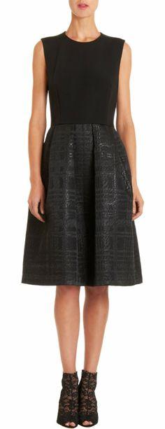 MARTIN GRANT Brocade A-Line Dress
