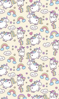 unicorn, wallpaper, and rainbow image Unicorn digital paper, digital paper pack, unicorn…art background beautiful beauty blue clouds colorful…♡ – – – Unicornios Wallpaper, Kawaii Wallpaper, Pattern Wallpaper, Wallpaper Backgrounds, Unicorn Wallpaper Cute, Cute Unicorn, Rainbow Unicorn, Cute Backgrounds, Cute Wallpapers