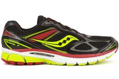 Saucony black shoes | Saucony Guide 7 S20227-6 New Mens BlackRed Running Training Athletic ...