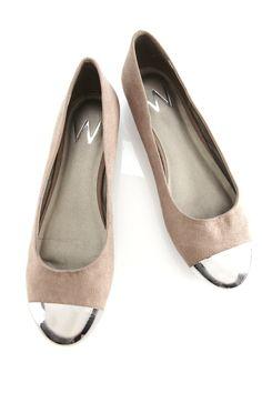 Neutral Metal Heel Pump - Flats - Shoes - Wallis US