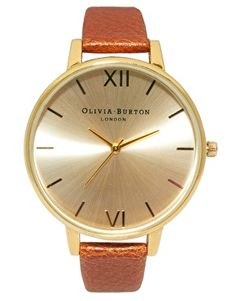 Olivia Burton Tobacco Vintage Style Watch available at ASOS