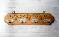 Lovely Romantic French Vintage Wooden Tea Towel Rail,hand- painted. on Etsy, $59.00
