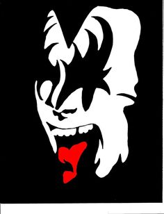 Gene Simmons Makeup Stencil Printable   Gene Simmons, Kiss by SamToast