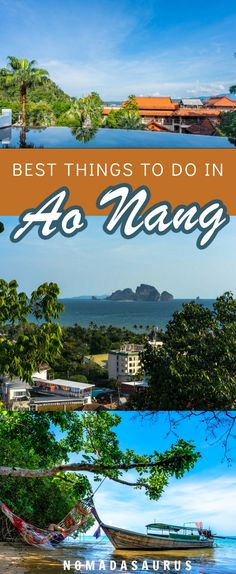 Thailand's beaches are a must visit! Here are the best things to do in Ao Nang, Krabi. #aonang #thailand
