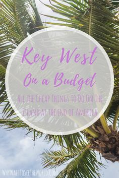Key West doesn't have to be expensive! Here are some cheap things to do if you are exploring Key West on a budget! Road Trip Florida, Places In Florida, Florida Vacation, Florida Travel, Travel Usa, Key West Vacations, Dream Vacations, Key West Outfits, Key West Florida