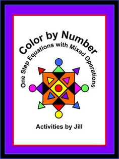 This activity is a great way to review solving one step equations!  Students will solve fifteen one step equations involving addition, subtraction, multiplication, and division. Only positive integers are included in this lesson.
