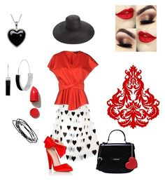 """""""Heart's Desire"""" by kelly-haven-russell on Polyvore featuring Alice + Olivia, Tara Jarmon, Lipsy, Lord & Taylor, Kenneth Cole, Kevin Jewelers, NARS Cosmetics, Love Moschino, Eric Javits and Pacific Coast"""