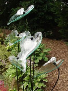 Clear Glass Leaves