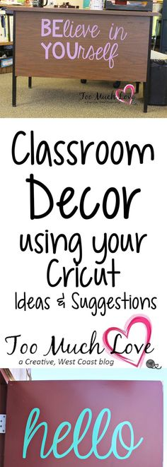 to Use Your Cricut for the Classroom Use your Cricut to decorate your classroom.Use your Cricut to decorate your classroom. Middle School Classroom, Classroom Setting, Classroom Setup, Classroom Design, Future Classroom, Classroom Organization, Classroom Management, Classroom Door Quotes, Inspirational Classroom Quotes