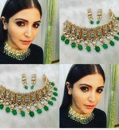 #kundan #kundanjewellery #choker Rajputi Jewellery, Indian Wedding Jewelry, India Jewelry, Gold Jewellery Design, Girls Jewelry, Jewelry Patterns, Ring Necklace, Jewelry Collection, Jewlery