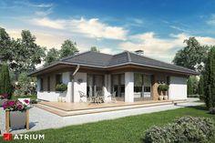 Projekty domów - Projekt domu parterowego MERIDA SZ - wizualizacja 2 Dream House Plans, Home Design Plans, Atrium, Gazebo, Merida, Ocean, Outdoor Structures, House Design, How To Plan