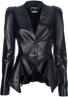 Alexander McQueen structured leather blazer:))) LOVE!