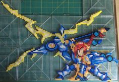 Perler of Elfman Strauss, in his fully transformed Beast Soul form. Though It's one of hte larger perlers I've done, this one was a lot of fun The sprite is from a nintendo DS game Fairy Tail Gekit...