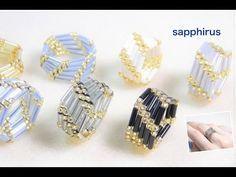 The Beading Gem's Journal: 2 Amazing Bugle Bead Ring Tutorials by Sapphirus