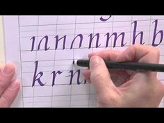 Calligraphy Tutorial Calligraphy And Alphabet On Pinterest
