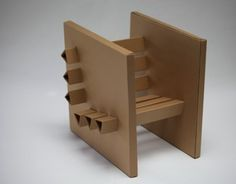 A chair of 3 sheets of cardboard and hot glue. It was designed to support a man for at least 10 minutes; it has extra (cardboard) supports in the bottom part of the seat, which is tilted for comfort. This chair is also easily disassembled for transportati…