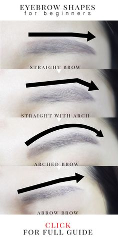 How to portray different styles with different shaped eyebrows