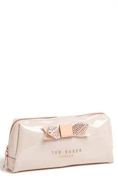 Ted Baker London Metallic Bow Large Cosmetics Case Nordstrom Bag
