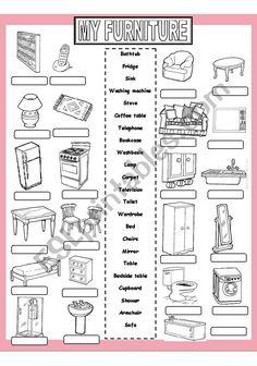 My Furniture worksheet