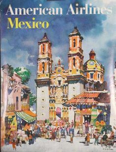 DP Vintage Posters - American Airlines Original Travel Poster Mexico Kingman