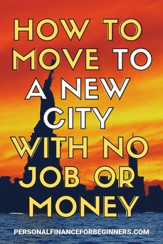 Moving without money is tough. Maybe you want to know how to move out of your parents house. Or you want to know how to move out of state. If you want a fresh start in a new city, here are some financial consideration and money basics you'll need to make Moving To Colorado, Moving To Florida, Moving To Washington State, Moving To Texas, Moving Tips, Moving Out, New Home Checklist, Moving Checklist, Moving To Another State
