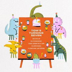 All Posts • Instagram Online Birthday Invitations, Dinosaur Invitations, Dino Kids, Baby Dino, Dinosaur Birthday Party, 2nd Birthday Parties, Birthday Cake, First Birthdays, Paperless Post