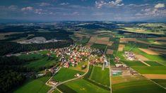 Ménières - Village de Ménières vu depuis mon drone à 140m de haut. Baseball Field, Dolores Park, Travel, Top, Photography, Viajes, Trips, Traveling, Tourism