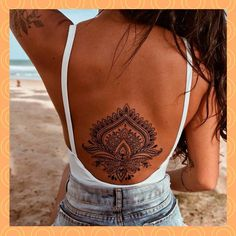 Lower Back Tattoo Designs, Unique Tattoo Designs, Lower Back Tattoos, Dotwork Tattoo Mandala, Mandala Tattoo Design, Cute Tattoos For Women, Back Tattoo Women, Cover Up Tattoos, Sexy Tattoos