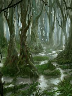 Swamp Waters Painting