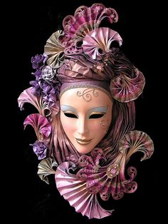 Mask-Venice : By Abey Palamattam Venetian Carnival Masks, Carnival Of Venice, Venetian Masquerade Masks, Venitian Mask, Costume Venitien, Venice Mask, Beautiful Mask, Art Sculpture, Masks Art