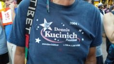 Kucenich people at the Bernie rally.
