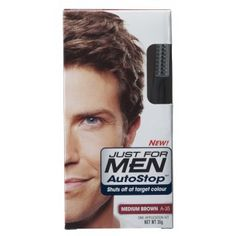 Just For Men AutoStop Foolproof Haircolour Medium Brown   £7.35 (FREE UK Delivery)  http://www.123hairandbeauty.co.uk/hair-products-c1/mens-c8/just-for-men-just-for-men-autostop-foolproof-haircolour-medium-brown-p540