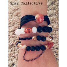 Orange & Black Set by GrayCollective on Etsy, $26.00