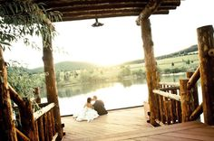 This is the ideal rustic, outdoor wedding. It makes us swoon!    [Spruce Mountain Guest Ranch]