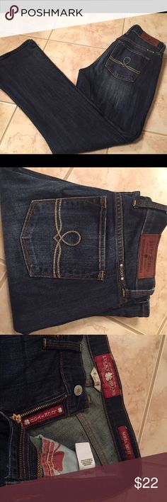 Lucky brand jeans. Sophia boot 6 Lucky brand jeans. Sophia boot cut.  Size 6 inseam 28. No stains or holes. Stitching and belt loops intact. Lucky Brand Jeans Boot Cut