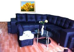 Esquinero Imperio con puf y brazo cuadrado $ 1.699.000 Sofa, Couch, Furniture, Home Decor, Game Room, Empire, Blue Prints, Settee, Settee